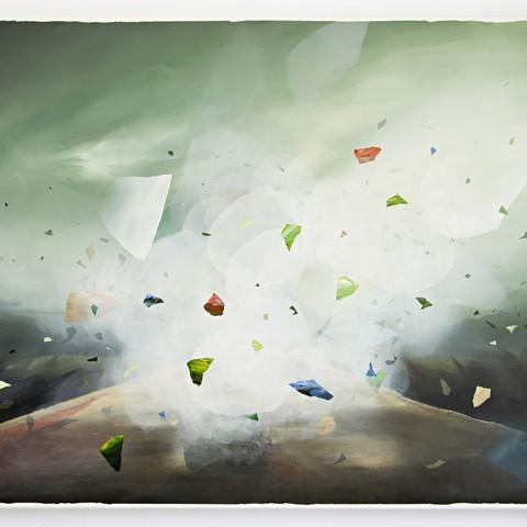Brief Flash On A Long Voyage, acrylic on canvas, 70 x 100 cm