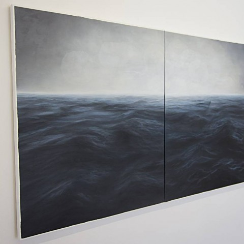 Time unrolling / Sea, Installation view