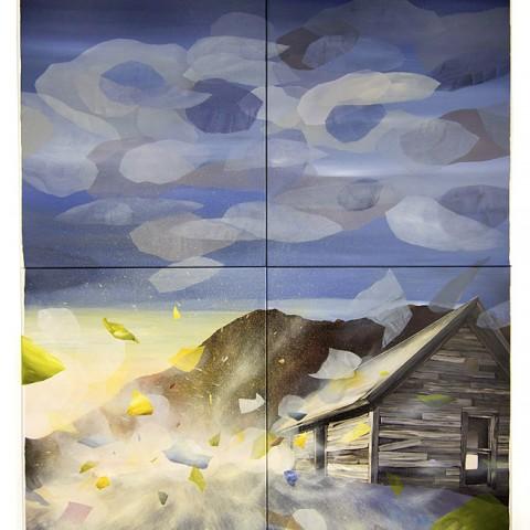 Spatio-temporal lapse, acrylic on canvas, 200 x 162 cm