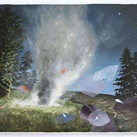 The Rhythm Of A Timeless World, acrylic on canvas, 70 x 100 cm