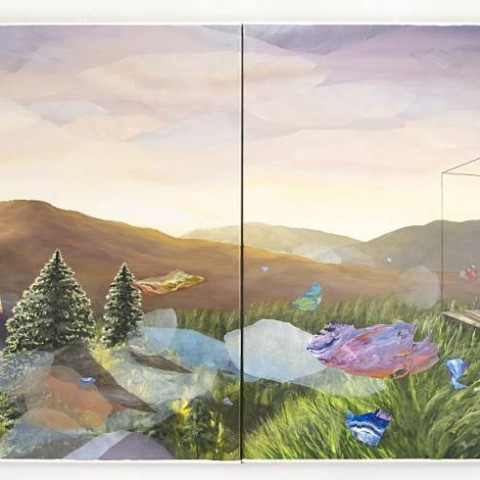Time Affluence, acrylic on canvas, 100 x 260 cm