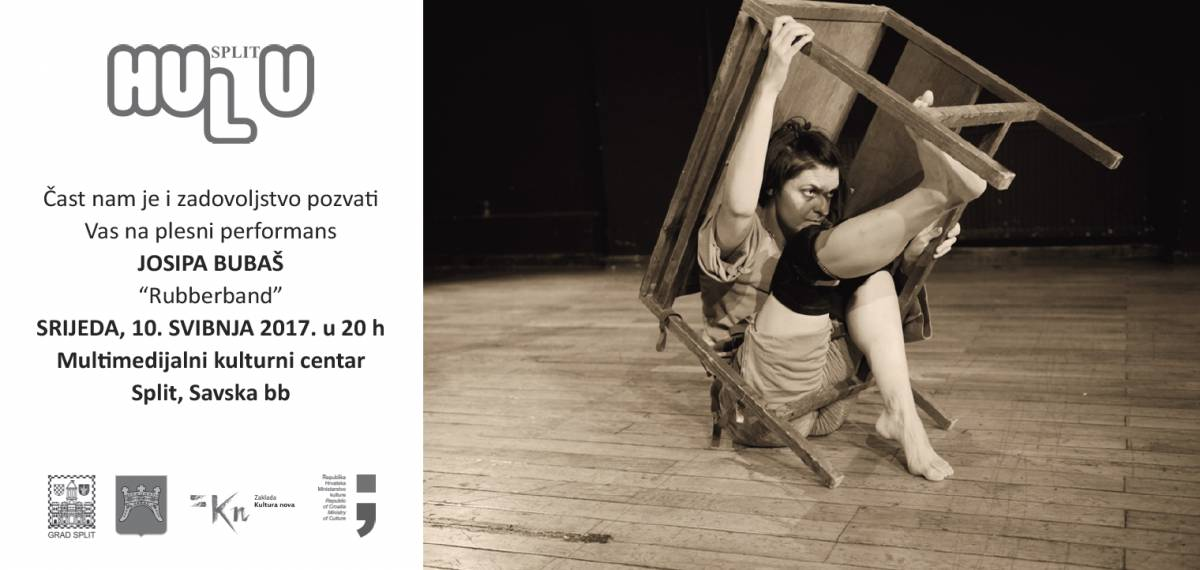 "We are pleased to invite you to attend the dance performance "" Rubberband"" by Josipa Bubaš & Rina Kotur / 10th May in MKC Split at 8pm (Savska bb)/ free entrance"