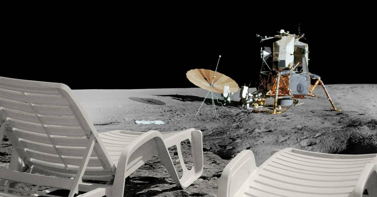 ležaljke na Mjesecu 2014 100x190cm digitalni ispis jpg