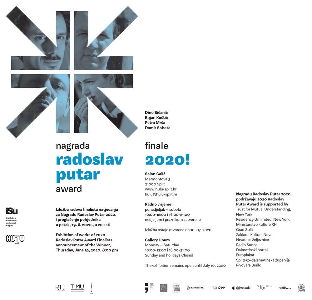 NAGRADA RADOSLAV PUTAR – FINALE 2020 U SPLITU!  / SALON GALIĆ /  petak, 19. 6. 2020. u 20:00 sati