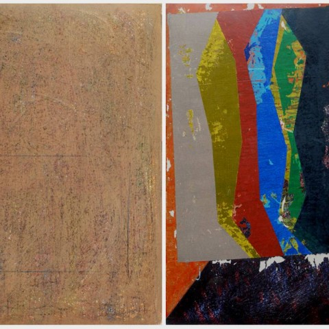 Untitled, 100X140 cm Diptych, Mixed Media on Paperboard