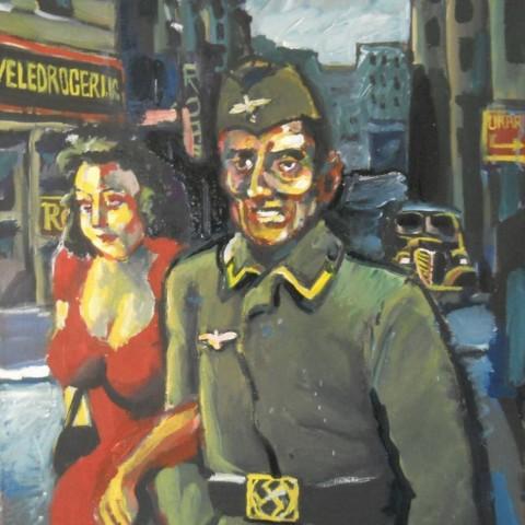 ''Joseph Beuys u Zagrebu 1942.'', akril na platnu 2014. ''Joseph Beuys in Zagreb 1942.'', acrylic/canvas, 2014