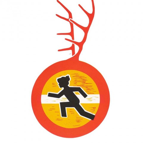 UNTIL YOU DROP, linorez (ciklus Zabrane i upozorenja), 2014. UNTIL YOU DROP, linocut (Prohibitions and Warning cyclus), 2014. 50 x 70 cm
