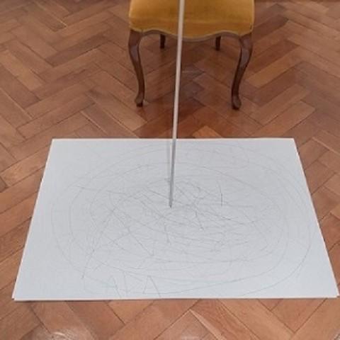 Objekti u prostoru, žica, drvo, staklo, platno i papir, 201260 cm x 150 cm x 100 cm, 2017